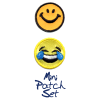 Smiley Face With Laughing Tears Patch Set