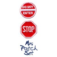 Mini Do Not Enter With Stop Sign Patch Set