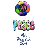 Love Flower With Peace Patch Set