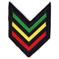 SMALL RASTA ARMY SHIELD PATCH