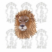 GIANT LION HEAD PATCH