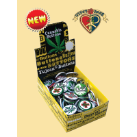 Cannabis Buttons / Pins 130 Piece Assortment