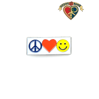 Peace Love Happiness Pin