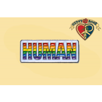 Human Rainbow Lapel Pin