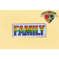 Family Rainbow Lapel Pin