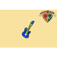 Blue Guitar Pin