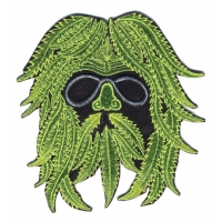 HIPPIE GREEN MAN HAND EMBROIDERED PATCH