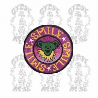 GRATEFUL DEAD SMILE SMILE SMILE DANCING BEAR FACE PATCH