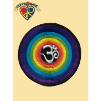 OM IN RAINBOW CIRCLES PATCH