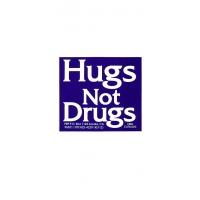 HUGS NOT DRUGS BUMPER STICKER