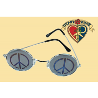 LENNON PEACE SIGN MIRROR SUNGLASSES