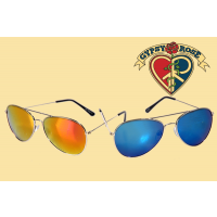 COLORED MIRROR AVIATOR SUNGLASSES