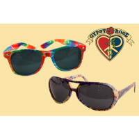 TYE DYE DARK LENS SUNGLASSES