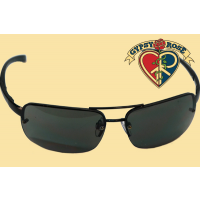 Black Half Framed Rectangled Lens Sunglasses