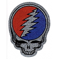 STICKER- GRATEFUL DEAD STEAL YOUR FACE GLITTER STICKER