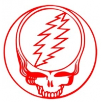 "Grateful Dead Steal Your Face Cutout 6 "" Sticker"