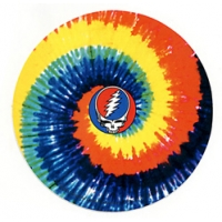 GRATEFUL DEAD STEAL YOUR FACE TYE DYE SWIRL STICKER