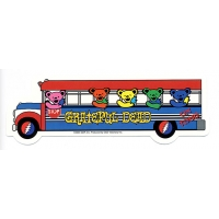 GRATEFUL DEAD DANCING BEARS ON TOUR BUS STICKER
