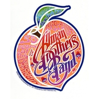 THE ALLMAN BROS 35 YEARS BEACON THEATRE PEACH STICKER
