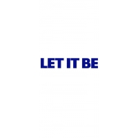 LET IT BE CUT OUT RUB ON STICKER