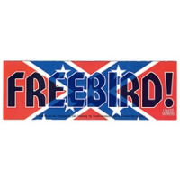 LYNYRD SKYNYRD FREEBIRD REBEL CONFEDERATE FLAG STICKER