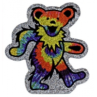 GRATEFUL DEAD GLITTER DANCING BEAR STICKER