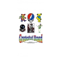 GRATEFUL DEAD ASSORTED ICONS DIE CUT STICKER SET