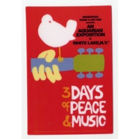 WOODSTOCK 3 DAYS PEACE & MUSIC STICKER