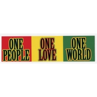 1 PEOPLE 1 LOVE 1 WORLD STICKER