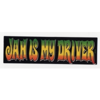 JAH IS MY DRIVER STICKER