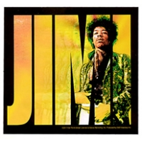 JIMI HENDRIX IN 'JIMI' LETTERS STICKER