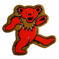 Grateful Dead Dancing Bear Metal Large Sticker