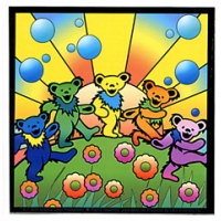 Grateful Dead Dancing Bear Utopia Sticker