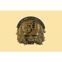 Grateful Dead Steal Your Face 50th Anniversary Lg Gold-Tone Metal Sticker