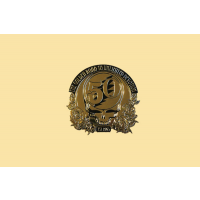 Grateful Dead Steal Your Face 50th Anniversary Small Gold-Tone Metal Sticker