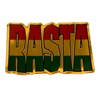Rasta Metal Sticker