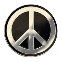 Peace Sign Metal Sticker