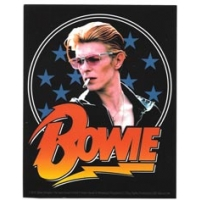 Bowie Face & Lightning Bolt Sticker