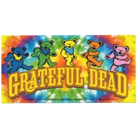 Bear On Tie Dye Sticker