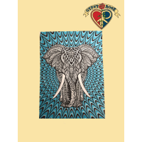 Elephant March Tapestry - Bedspread