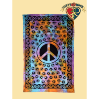 Twin Size Peace Tapestry - Bedspread