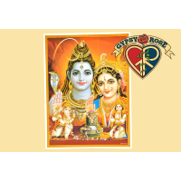 Blessings Of The Deities Sunlight Shiva & Lakshmi Poster w/ Gold Details