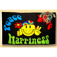 PEACE LOVE HAPPINESS FLAG