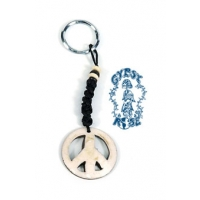 BONE PEACE SIGN KEY CHAIN