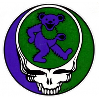 GRATEFUL DEAD STEAL YOUR BEAR PURPLE GREEN STICKER
