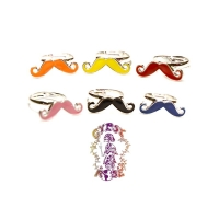 COLORED MUSTACHE RING