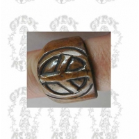 BONE PEACE RING