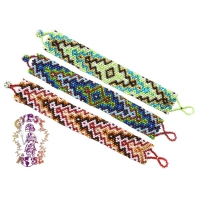 SOULSHINE IRIDESCENT SEEDBEAD WIDE 16 ROW BRACELET
