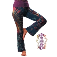 TYE DYE SPANDEX BLEND STRETCH PANTS