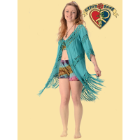 For Your Love Crochet Fringed Cardigan